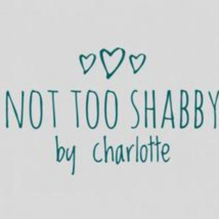 image of not too shabby by charlotte logo teal letters and three hearts on grey background-email-marketing-nottingham
