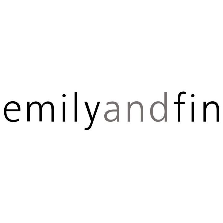 image of emily and fin logo simply black letters on white background -product-description-copywriter-nottingham