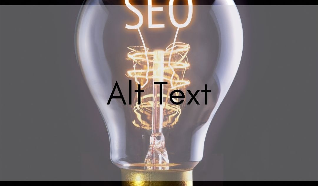lightbulb with seo in filament, text says alt text