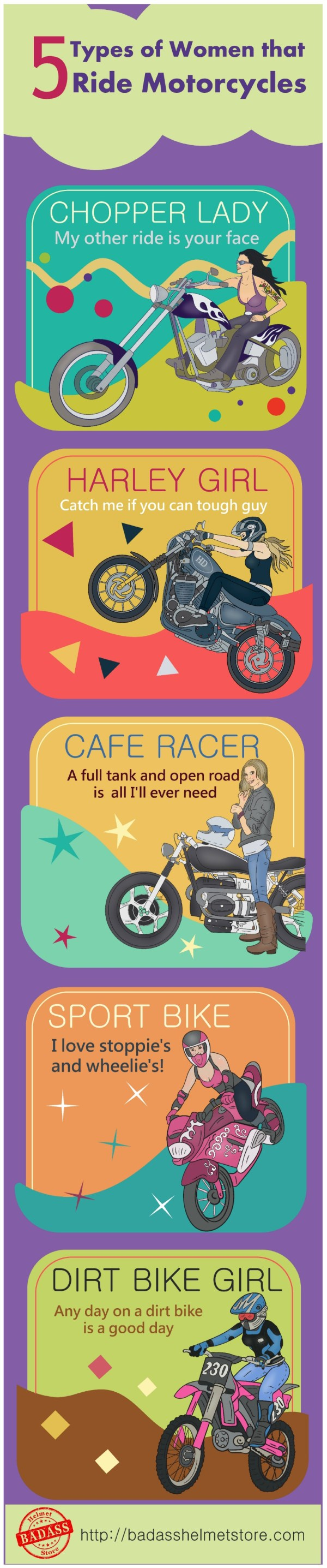 5-Types-of-Women-that-ride-Motorcycles-Infographic