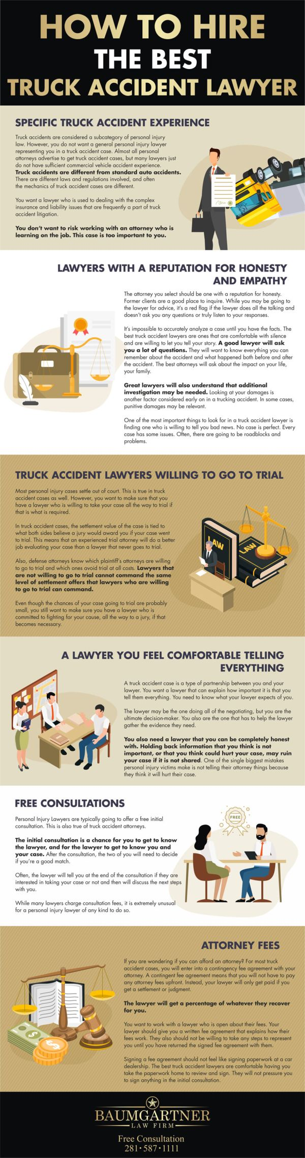 How-to-hire-the-best-truck-accident-lawyer-infographic