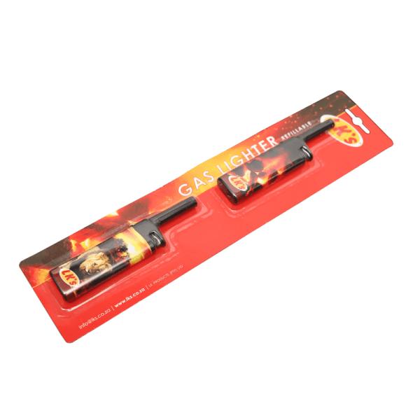 124-6 gas lighter short 2-pack