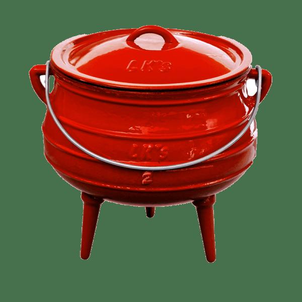 145-1 no2 red 3 leg pot