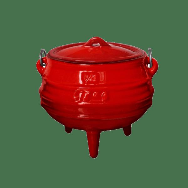 145-3 Enamelled Cast Iron 3 legged pots
