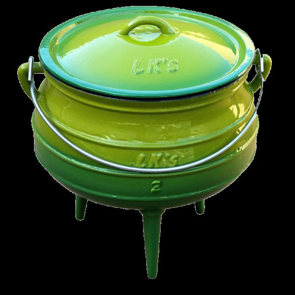146-1 green no2 3 legged pot
