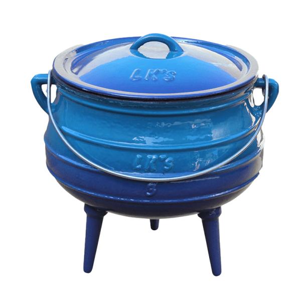 147-2 - 3 leg blue #3 pot