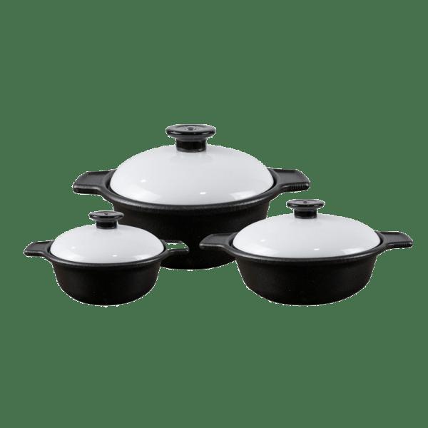 Chef Supreme Value Pack (3 x Casseroles-White)