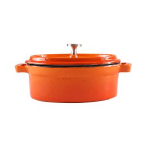 160-100 - orange oval ramekin 1