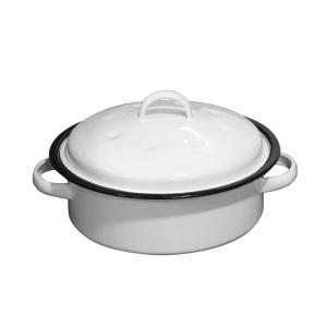 118-27 - oval casserole small white