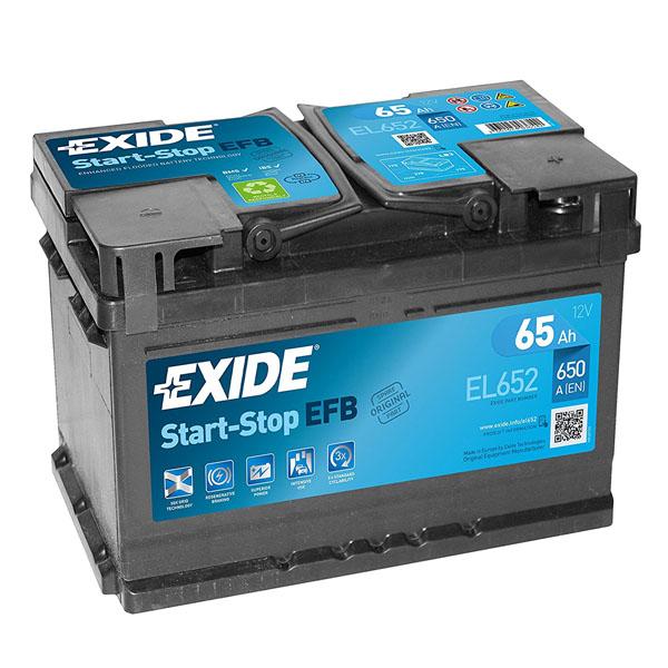 65AH EXIDE EFB  START & STOP