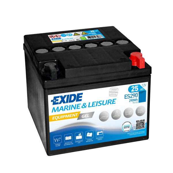25AH EXIDE EQUIPMENT GEL MARINE