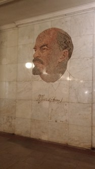 Lenin in the Metro that is named after him