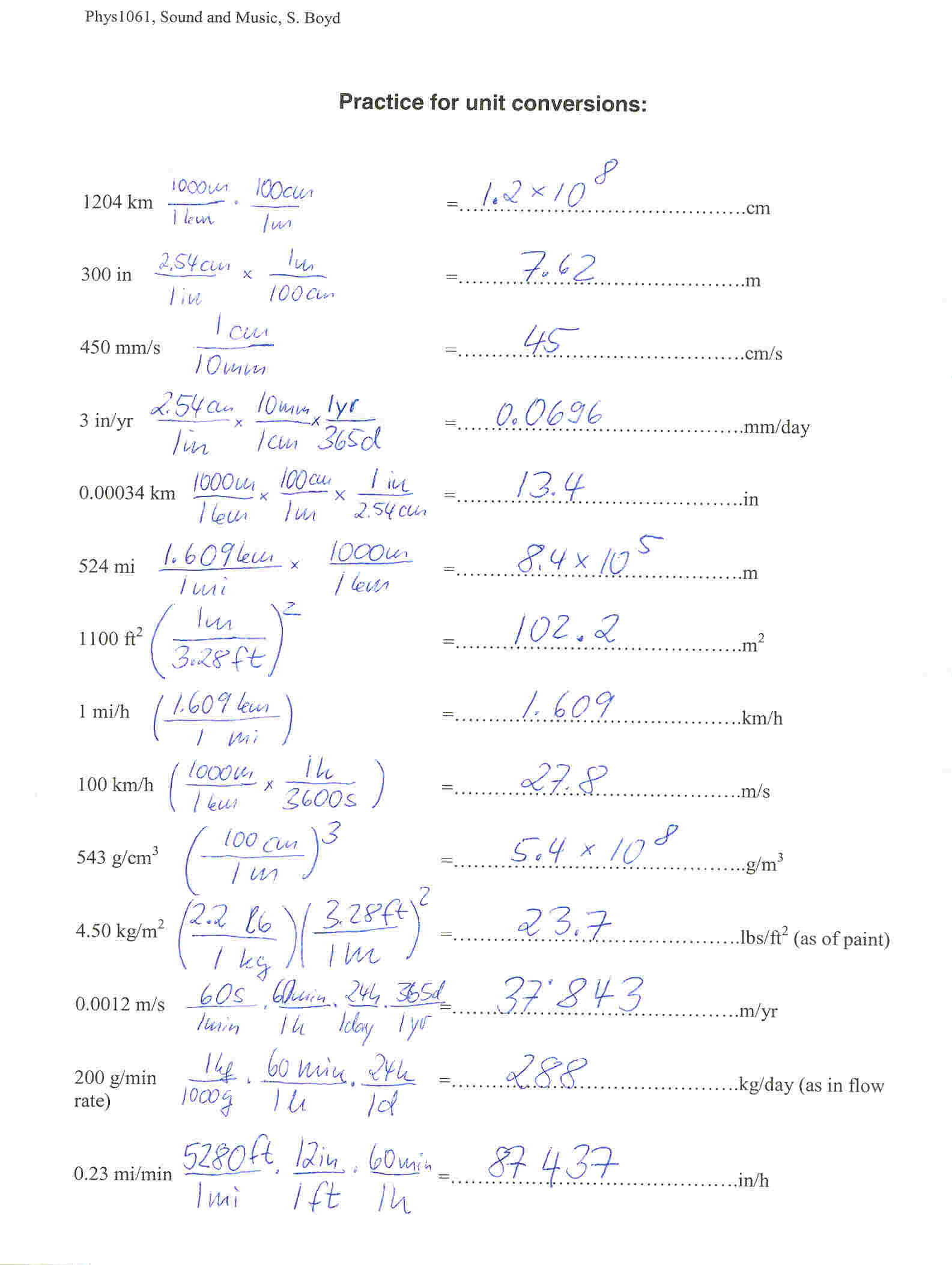 35 Unit Conversions Worksheet Answers