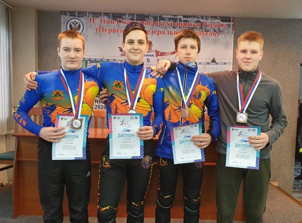 Емец Андрей с другими призерами спартакиады