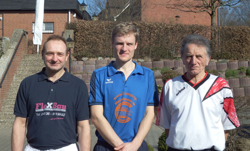 Die drei Erstplatzierten in der Einzelwertung v.l. Ralf Wozniak, Kai Köllner, Otto Kohfeld