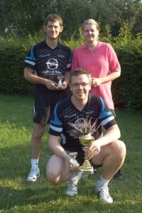 Beste Einzelspieler v. l. Arnim Barkholtz, Jan Stender, Christiane Gebauer