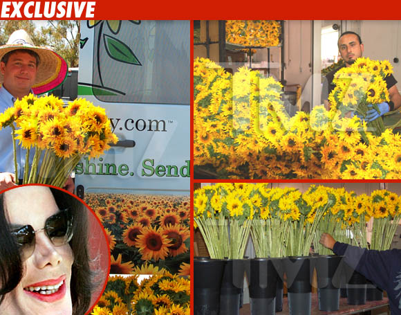 Michael Jackson sunflowers