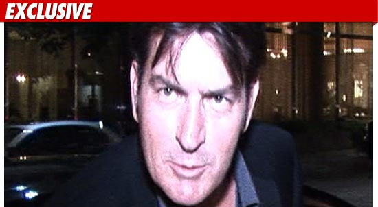 Charlie Sheen will be sleeping at his L.A. home tonight  shooting a movie