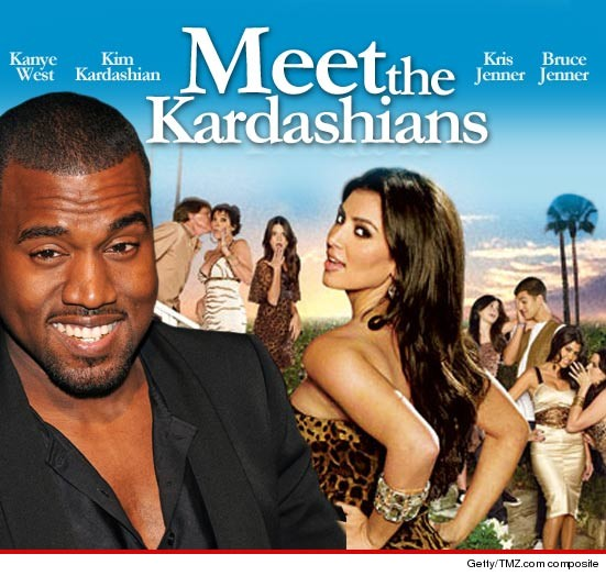 Kanye West met Kardashian family yesterday in New York.