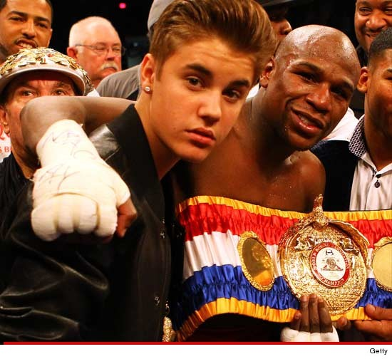 Justin Bieber with Floyd Mayweather last night was months in the making