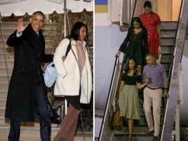 The Obamas Flee D.C. Chill for Sunny Hawaii