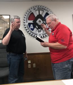 Gary Dyer sworn in as Conductor Sentinel