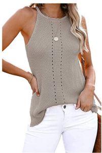 Women's Knit Tops Summer Tanks Loose Sleeveless Tops