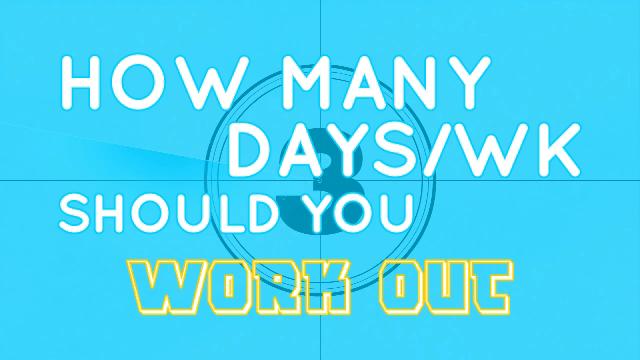 How Many Days a Week Should You Train Per Goal