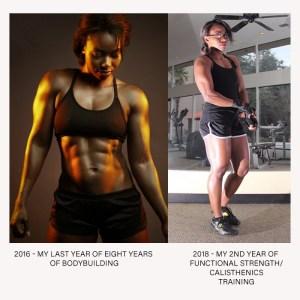 physique during bodybuilding vs functional bodyweight calisthentics adult gymnastics training