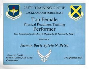 Air Force Top PRT