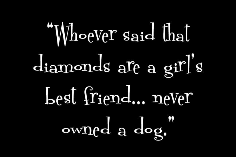 Diamonds Quote