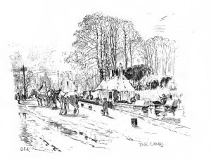 sketch of canal by Andrew S Douglas