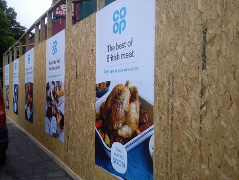 Omars in Insole Llandaf Cardiff being turned into a Coop
