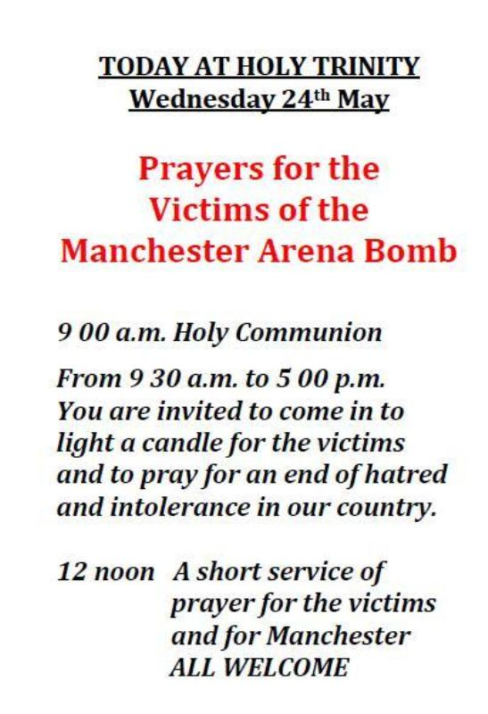 Prayers for Manchester poster