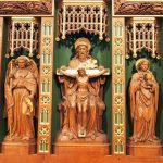 Carved reredos