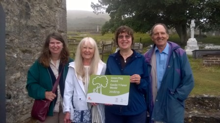 Green Flag plaque for St. Tudno's churchyard.