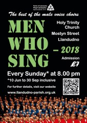 Male voice choirs poster