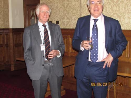 HOUSE OF LORDS RECEPTION WITH LORD MICHAEL HOWARD,FORMER PUPIL AND A PATRON OF THE ASSOCIATION ,8th JUNE 2017