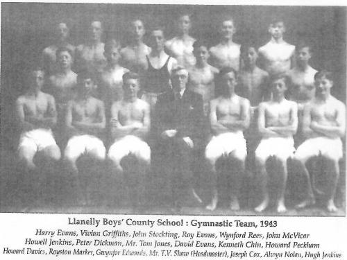 GYMNASTIC TEAM, 1943, LLANELLY BOYS' COUNTY SCHOOL.
