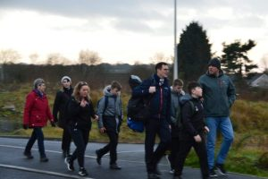 Free school transport distances will be reviewed following Waters' walk to school