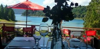 Enjoy lunch with amazing views to Lake Nahuel Huapi