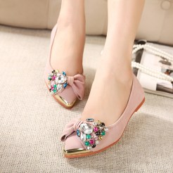 Hot-sale-Fashion-European-style-bowtie-crystal-women-flats-mental-floral-pointed-toe-color-women-shoes