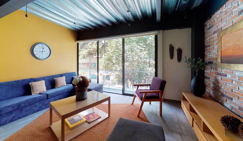 Departamento CDMX Boston-109-Living-Room