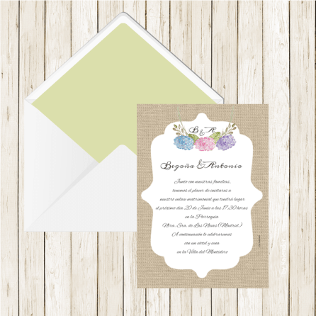 Invitacion-flores-Hortensias-L2arpillera