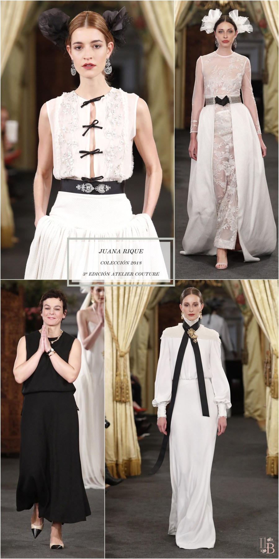 Desfile Atelier Couture 2017- Juana Rique. Post en Llega mi Boda.