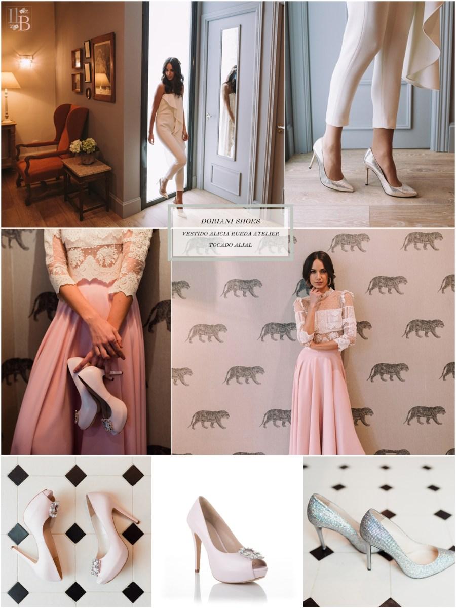Intemporel, nueva colección Doriani Shoes con vestido de Alicia Rueda. Post Llega mi Boda