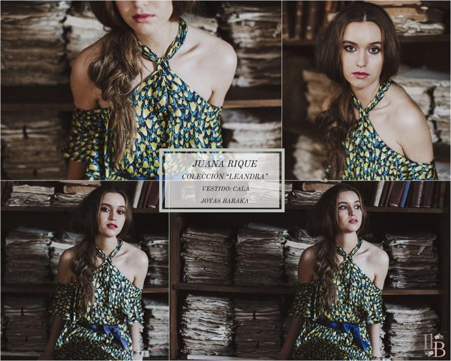 Juana Rique presenta su colección Leandra. Vestido Cala. Joyas Baraka