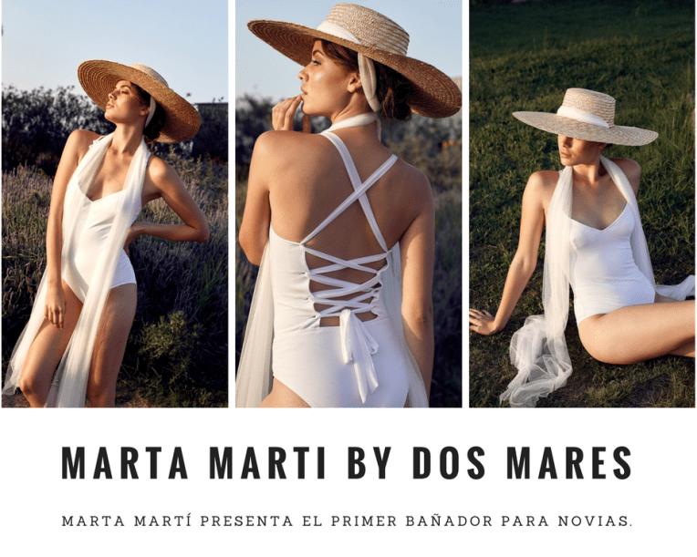Marta Martí presenta el primer bañador para novias.