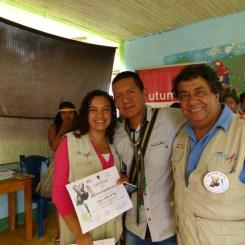 Sandra Rojas, Jheisson Paja B. y Henry Gamba