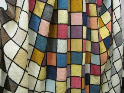 woven dyed sample squares blanket (Ceredigion Guild)